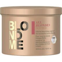 BlondMe Mindenszőke RICH maszk normál és vastagszálú szőke hajra 500 ml