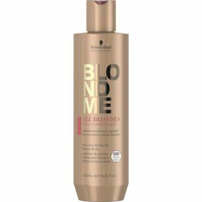 BlondMe Mindenszőke RICH balzsam normál és vastagszálú szőke hajra 250 ml